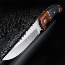 XUAN couteau de plein air FENG, couteau tactique pour la chasse et lauto défense, couteau court à haute dureté, couteau de survie pour le camping