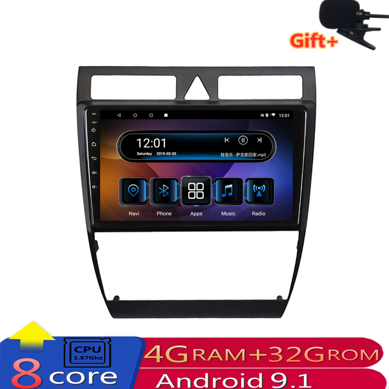 9 4G RAM 8 cores Android Car DVD Stereo GPS Navigation For Audi A6 S6 RS6 1997-2004 2005 2006 2007 2008 radio headunit wifi image