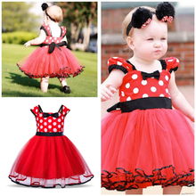 Babies Minnie Mouse Dress for Baby Baptism Christening Gown Kids Cloth