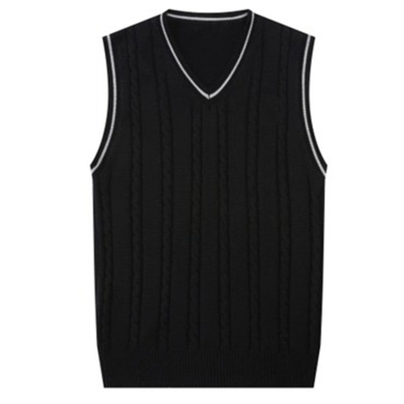 Sweater Men Fashion Sleeveless Knitted Vest Male V-Neck Pullover Jacket Slim Solid Casual Mens Woolen Sweaters Gilet Chaleco