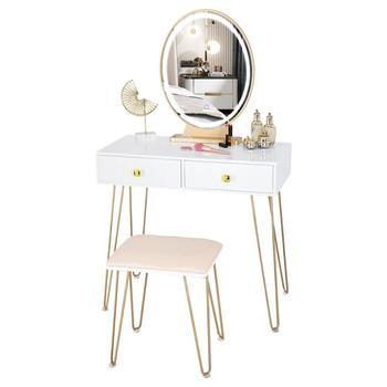 Tocador Simple y moderno de KingYee, tocador de dormitorio para el hogar, tabla de densidad de maquillaje, T able con cajón con espejo, taburete de bloqueo