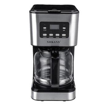 220V Coffee Machine 12 Cups For Espresso Cappuccino Latte Semi-Automatic Steam Coffee Maker Detachable Washable Coffeemaker 4
