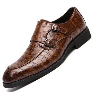 Мужская обувь в деловом стиле; Мужская элегантная кожаная официальная обувь; Мужские оксфорды в британском стиле с пряжкой; Официальная обу...