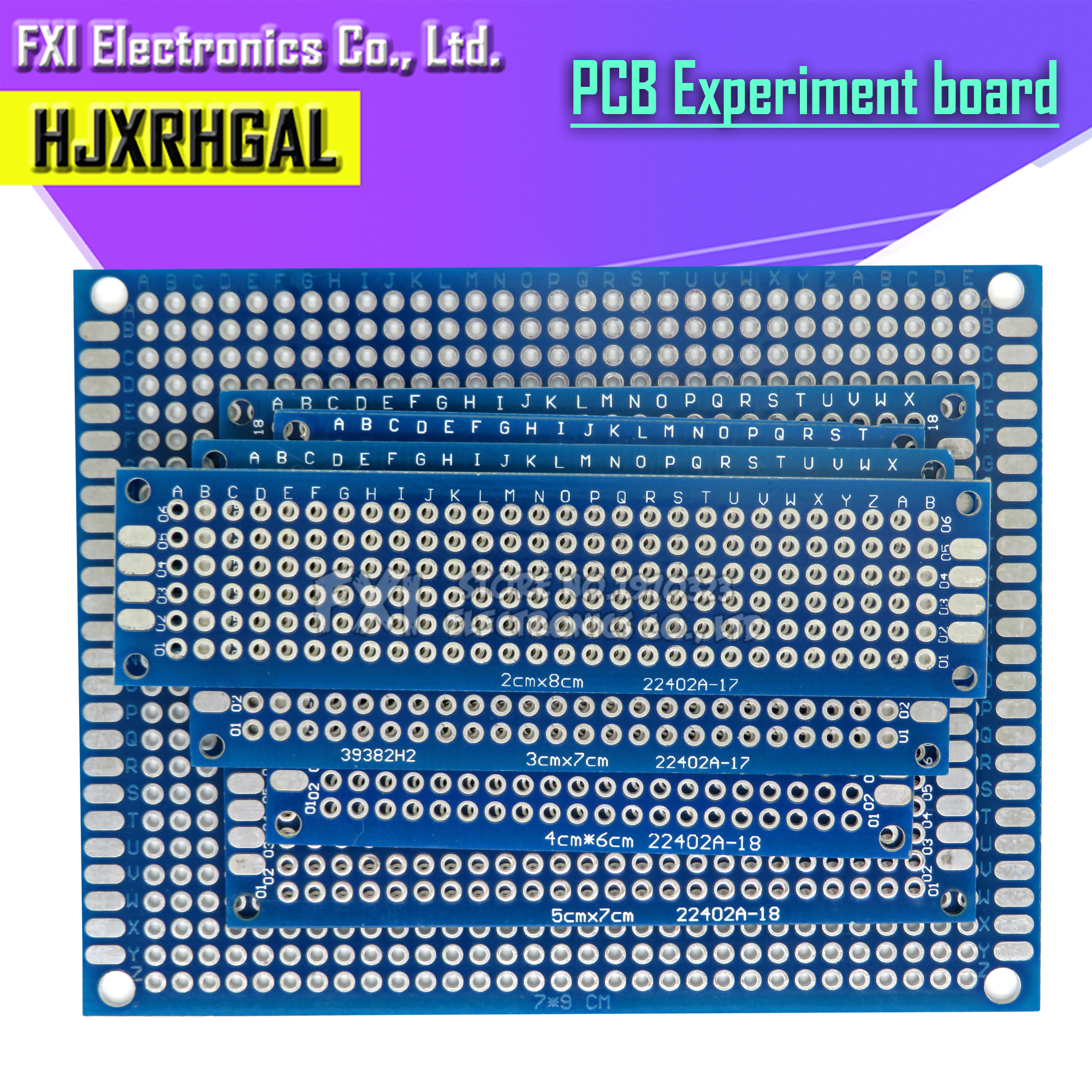 1pcs 2x8cm 3x7cm 4x6cm 5x7cm 7x9cm Double Side PCB Board 4*6cm Universal Printed Circuit Board For Arduino Experimental