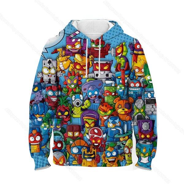 Children Super Zings Hoodie Boys Girls Cartoon 3D Printed Pullovers Kids Superzings Sweatshirt Harajuku Streetwear Spring Winter 6