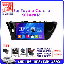 Autoradio pour Toyota Corolla Ralink A11-Android – 2014, lecteur multimédia vidéo, WIFI, 4G, Navigation GPS, 6G + 2016G, DSP, RDS, IPS, 128