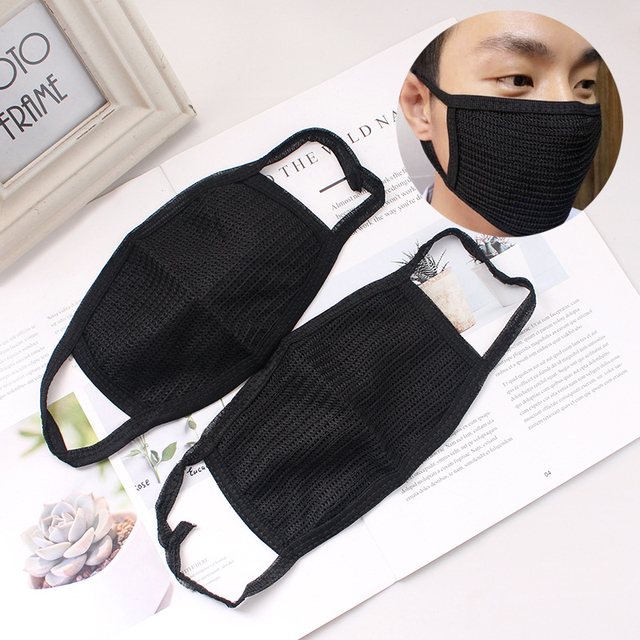 Cotton Yarn PM2.5 Masks Anti Dust Keep Warm Cotton Anti-pollution Mask Windproof Mouth-muffle Bacteria Proof Flu Black 4