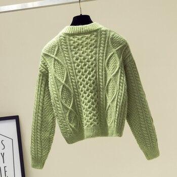 Ailegogo New 2019 Autumn Winter Women Sweaters V-Neck Knitting Fashion Korean Style Solid Minimalist Ladies Female Tops SW716 5