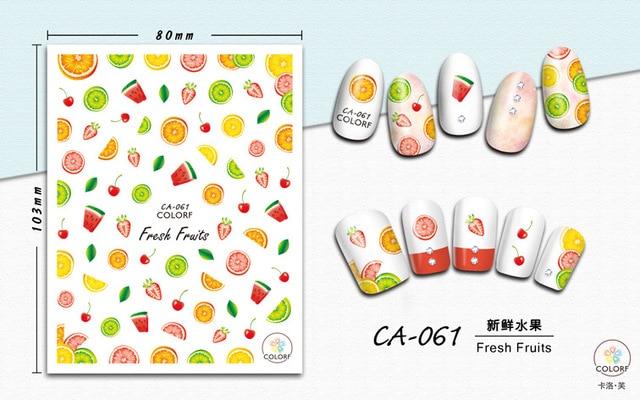 Фото наклейка для дизайна ногтей morixi сезон осень кленовые листья