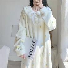 Ночная рубашка женская плюшевая длинная теплая и удобная ночная