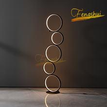 Скандинавский простой креативный круглый напольный светильник