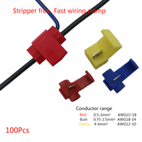 Fast break-free 터미널 와이어 커넥터 스플리터 클램프 소프트 와이어 클램프 100pcs 0.5-1mm ² 0.75-2.5mm ² 4-6mm ²