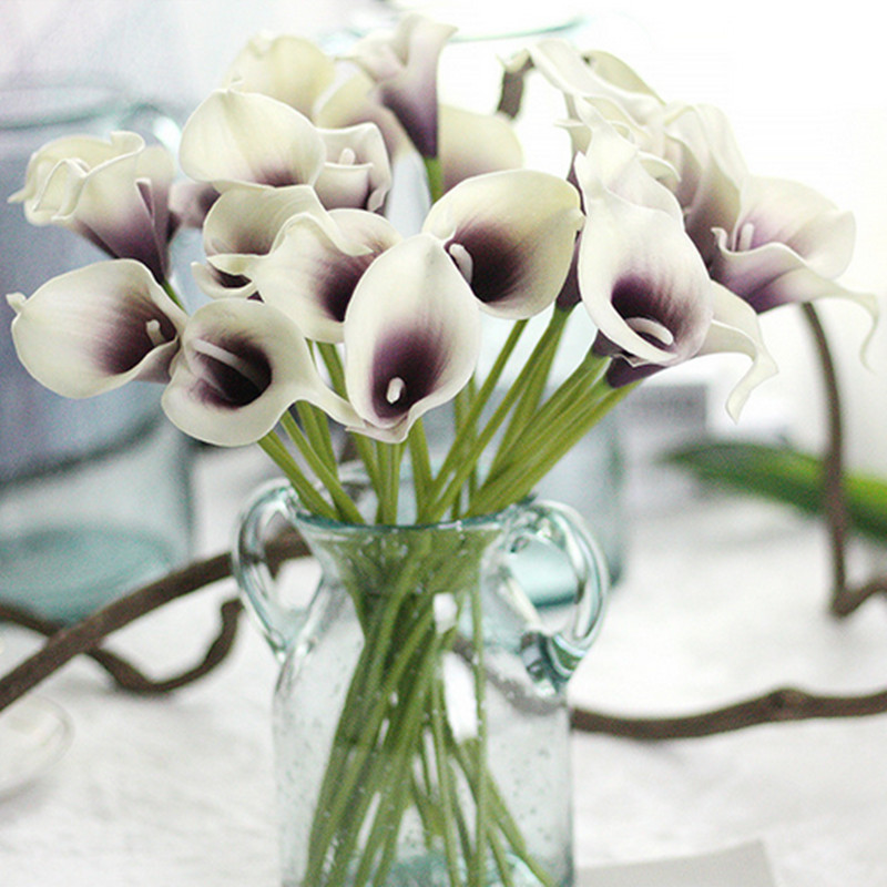 1PC PU Mini Tulips Artificial Flowers For Home And Wedding Decoration Flowers 30
