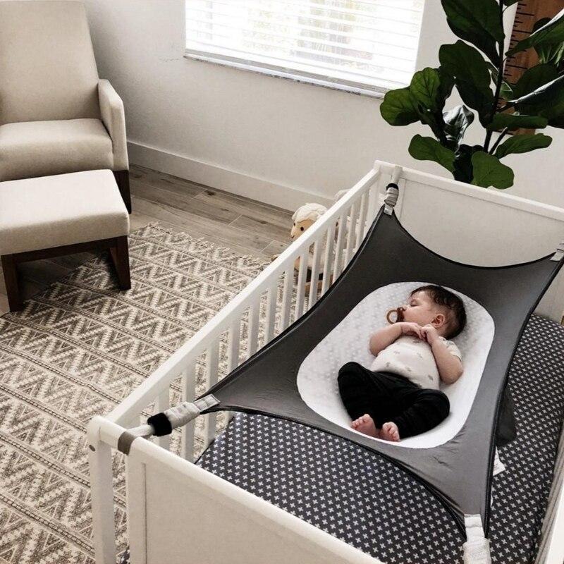 Baby Hammock for Crib Newborn Infant Sleeping Bed Swing Indoor Outdoor Hanging Basket Kid Elastic Breathable Portable Hammocks