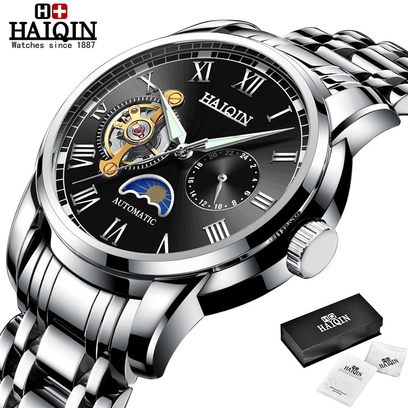 HAIQIN Mechanical watches mens automatic wrist watch for mens watches top brand luxury watch men Tourbillon relojes hombre 2020 8