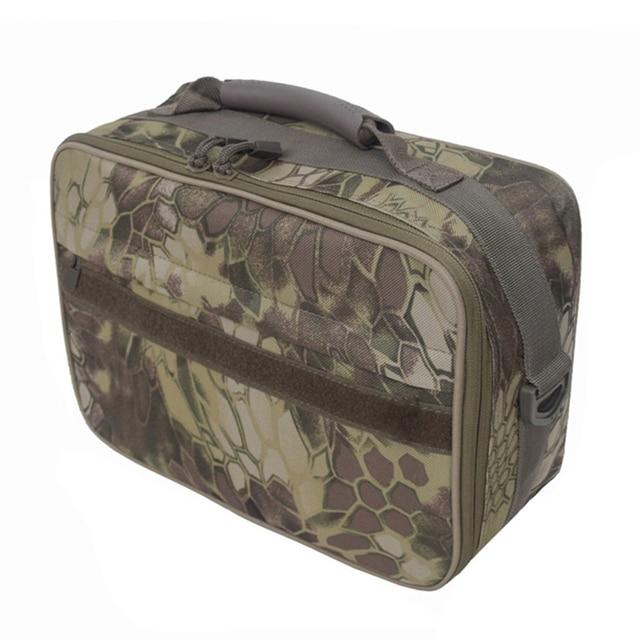 Fishing Tackle Bag Water Resistant oxford fabric Fishing Storage Bag Crossbody Shoulder Bag Handbag with Removable Dividers