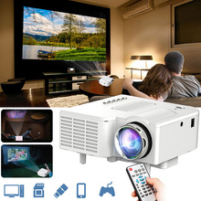 цены Mini Portable Projector Support 1080P Video Projector With LED Lamp For Mobile Phone Home Cinema Theater TV Smart 3D Movie