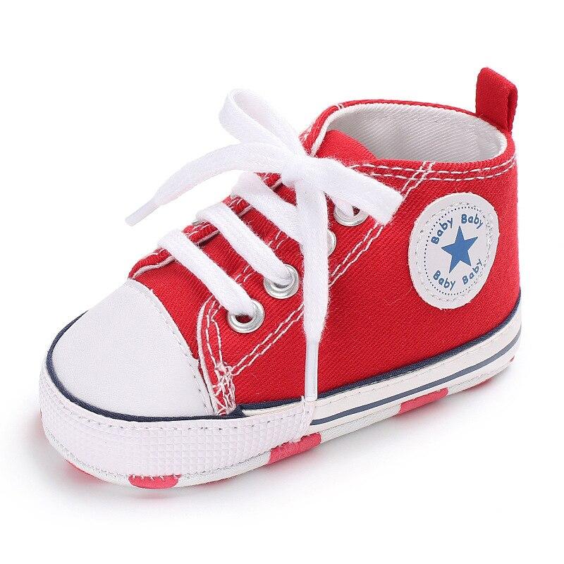 Chaussures bébé Garçon Fille Solide Sneaker Coton Doux Semelle Antidérapante Nouveau-Né Infantile Premiers Marcheurs Bambin décontracté Sport Chaussures de Berceau 22