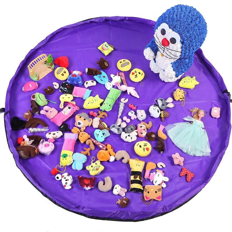VOGVIGO 50/150cm Drawstring Bags Portable Kids Toy Kit And Play Mat Lego Toys Organizer Bin Box Fashion Practical Storage Bags