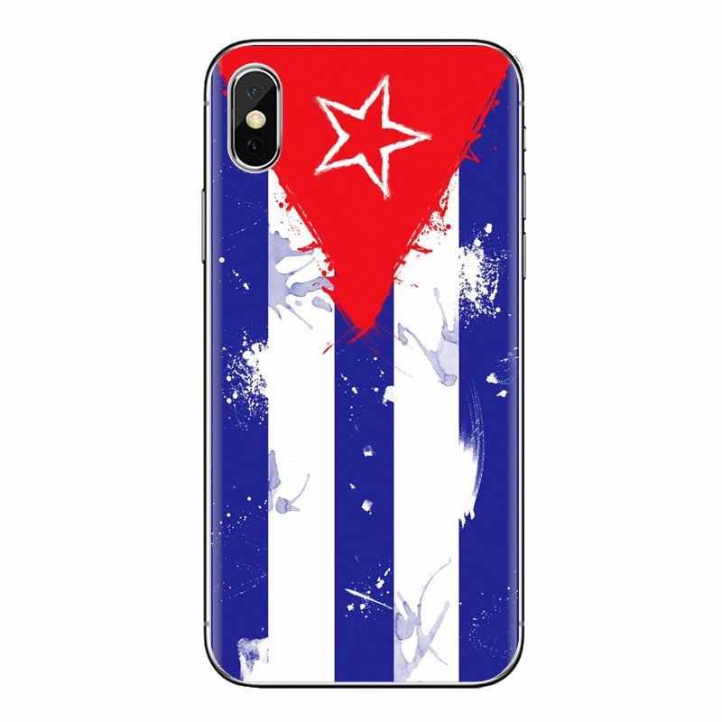لينة TPU يغطي الكوبية كوبا العلم يطير خط راية ل Xiaomi Mi3 سامسونج A10 A30 A40 A50 A60 A70 غالاكسي s2 ملاحظة 2 جراند النواة رئيس