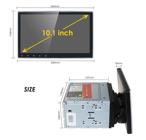 Image 3 - 2 דין 4G 64G רכב רדיו לרכב אוניברסלי נגן dvd GPS ניווט bluetooth רכב אבזר 4G אינטרנט אנדרואיד 10 אוקטה Core DSP