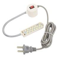 ماكينة خياطة محمولة خفيفة 10 LED ضوء العمل المغناطيسي تصاعد قاعدة Gooseneck مصباح لجميع ماكينة خياطة الإضاءة-في إضاءة صناعية من مصابيح وإضاءات على