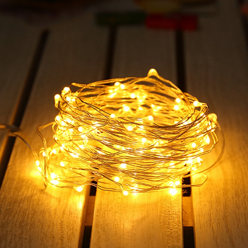 1M 2M 3M 5M 10M 20M Copper Wire LED String Fairy Lights Holiday Lighting Garland For Christmas Tree Wedding Party Decoration