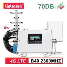Amplificateur de Signal Internet 4G LTE bande 40 2300mhz B40 2300, panneau répéteur + antenne Yagi + Kit Lintratek 6
