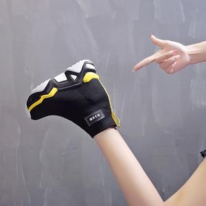 Image 4 - SWYIVY רשת טריז נעלי פלטפורמת אישה מגפי גבירותיי חדש מוצק 2019 סתיו להחליק על קרסול מגפי נשים בוהן עגול נעליים נשיות