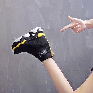 Image 4 - SWYIVY Lưới Đế Độn Người Phụ Nữ Nền Tảng Giày Nữ Mới Chắc Chắn 2019 Thu Trơn Trượt Trên Mắt Cá Chân Giày Cho Nữ Giày Mũi Tròn giày Nữ