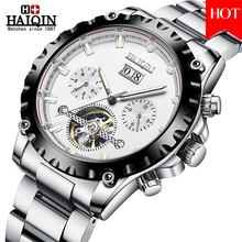 2020 HAIQIN mens watch Luxury Brand Stainless Steel Sport Wrist Watch automatic Clock waterproof male montre mecanique homme ik colouring mens orologio uomo automatic wristwatch skeleton steampunk wrist watch stainless steel band male clock montre homme