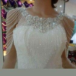 В наличии Бисероплетение Болеро Капа дешевая Свадебная куртка 2019 свадебное болеро для женщин Свадебные аксессуары