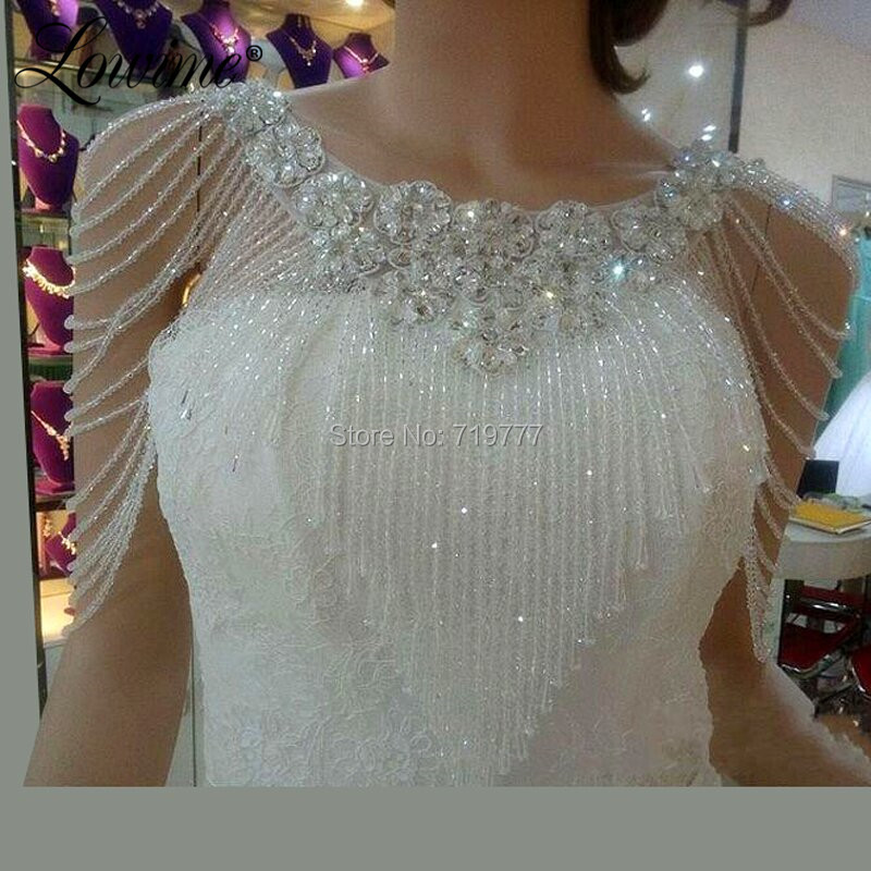 In Stock Beading Bolero Capa Cheap Wedding Jacket 2019 Wedding Bolero For Women Bridal Cape Wedding Accessories