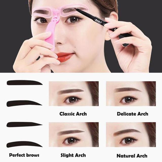 Three-generation Eyebrow Card Hand-held Thrush Card Beginner Thrush Aid 4 Eyebrow Beauty Tools  Easy To Operate Makeup 1