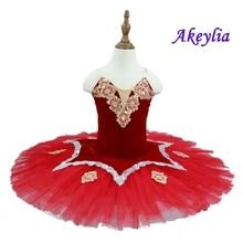 Kitri Don Quixote Ballet Tutus Skirt Classical Ballerina Stage Costume Women Adult Black Red Professional Tutu
