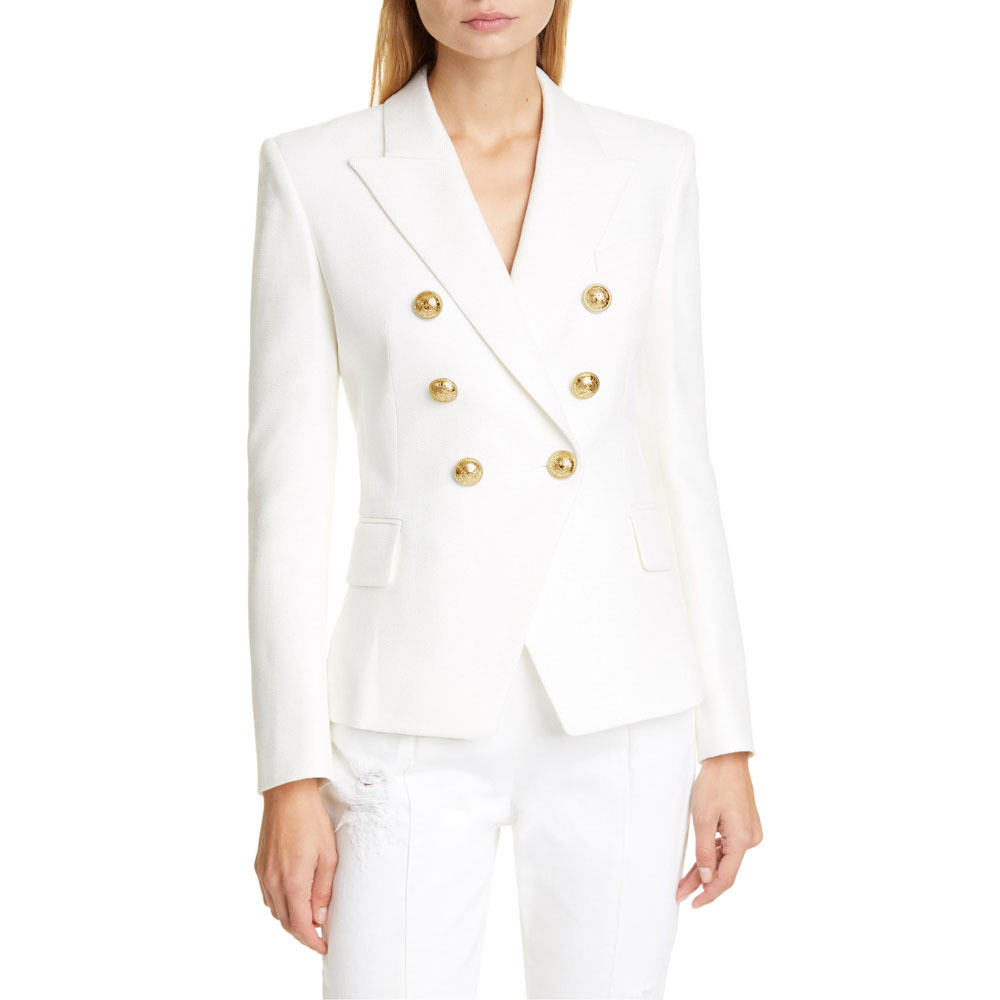 Women Blazer Suits Fashion Long Sleeve Double Breasted Blazers Office Ladies Casual Outfits