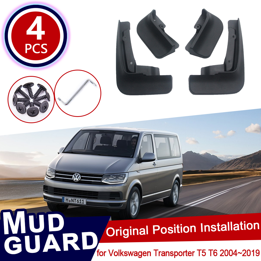 for Volkswagen <font><b>VW</b></font> Transporter <font><b>T5</b></font> T6 Caravelle <font><b>Multivan</b></font> 2004~2019 Mud Flaps Flap Splash Guards Mudguards Car Accessories 2010 image