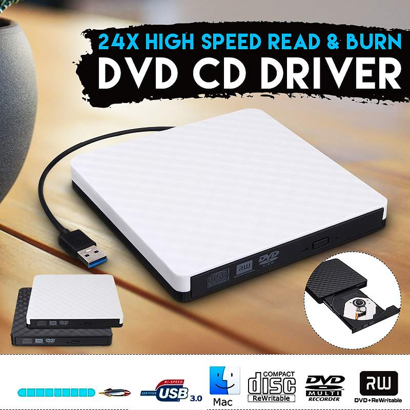 USB 3.0 External DVD Drive Optical Drive CD ROM Player CD-RW Burner Writer Reader Recorder Portatil For Laptop Windows PC