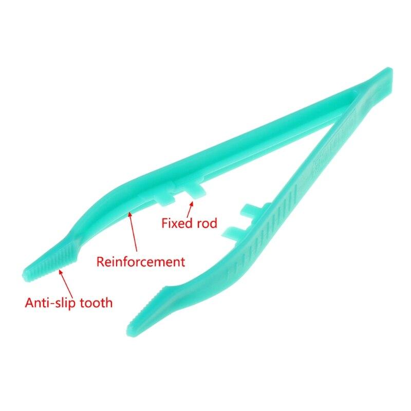 Рептилий Кормление зажим для пинцета плоскогубцы пластик Фидер клип нескользящий террариум