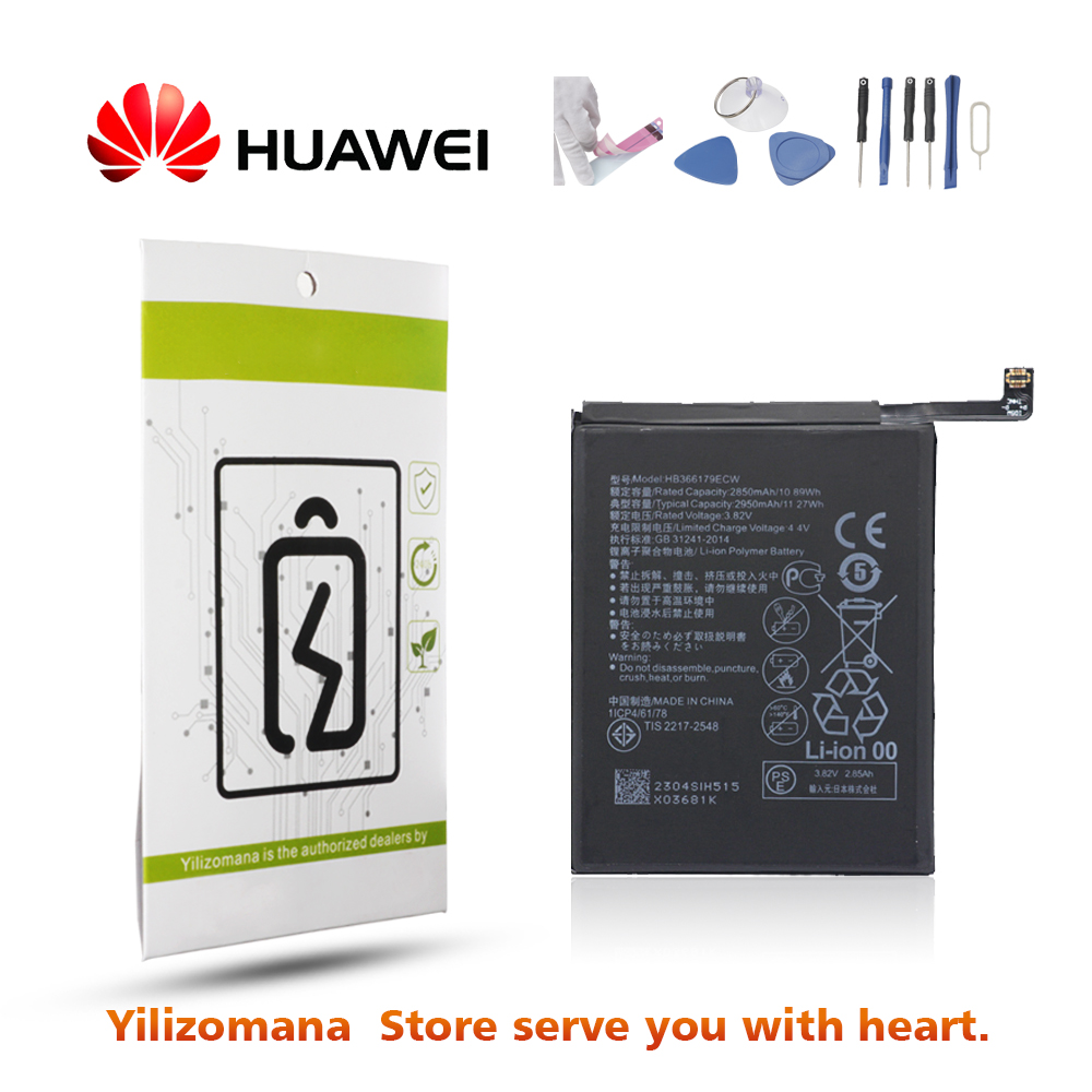 Original Battery For HUAWEI HB366179ECW 2850mAh For Huawei Nova 2 PIC AL00 PIC L09 PIC L29 PIC TL00 Replacement Phone Battery in Mobile Phone Batteries from Cellphones Telecommunications