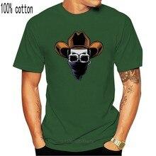Skull Cowboy con un fazzoletto da uomo Tee-immagine di The-Shirt