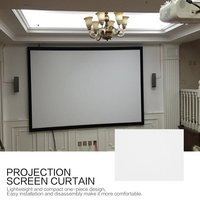 150/170 дюймовый проекционный экран занавес нетканый материал белый мягкий портативный для KTV Ba конференц-зала домашнего кинотеатра
