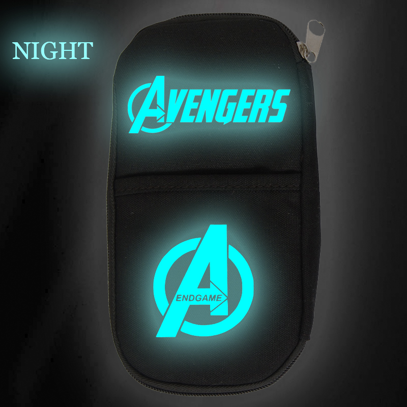 Pouch Cosmetic-Cases Stationery-Storage Makeup Marvel School-Supplies Avengers Luminous