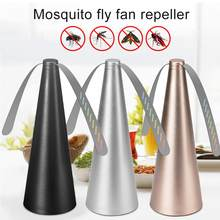 Fly destroyer mesa protetor de alimentos voar repelente ventilador moscas e bugs longe voar destruidor propellor usb repelente de mosquito automático novo