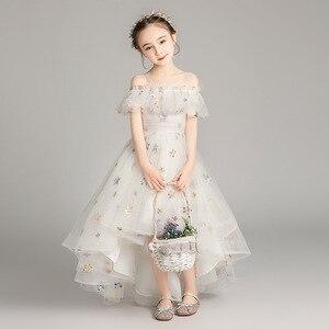 Robe princesse TUTU en fils pour filles | Robe de soirée colorée, tenue de fête de mariage, pour animatrice de Piano, pour enfants