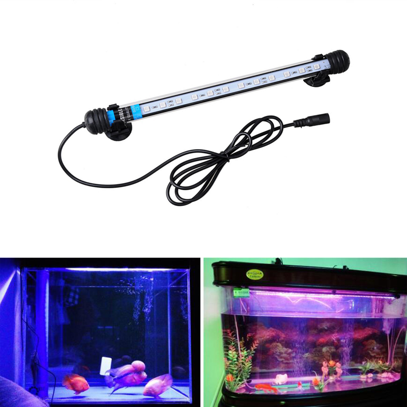Gako Aquarium Light 1.5W Amphibious Submersible LED Lamp Arowana Light Blue LED Bar Light Aquarium For Fish Tank Coral Reef