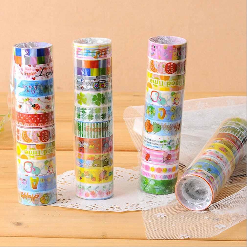 Encantador de dibujos animados conjunto de cintas japonés papel para manualidades DIY cinta para decorativas de bala planificador