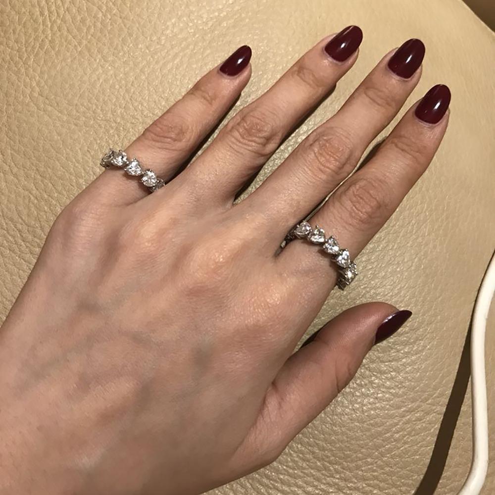 925 bague de fiançailles en argent Sterling pour mariage, bague en argent pour femmes, bague de mariée, bijoux - 6