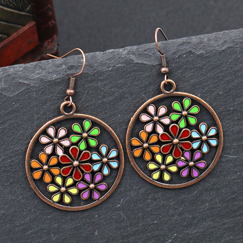 8 rose oeil de chat verre 16x12mm Drop Beads