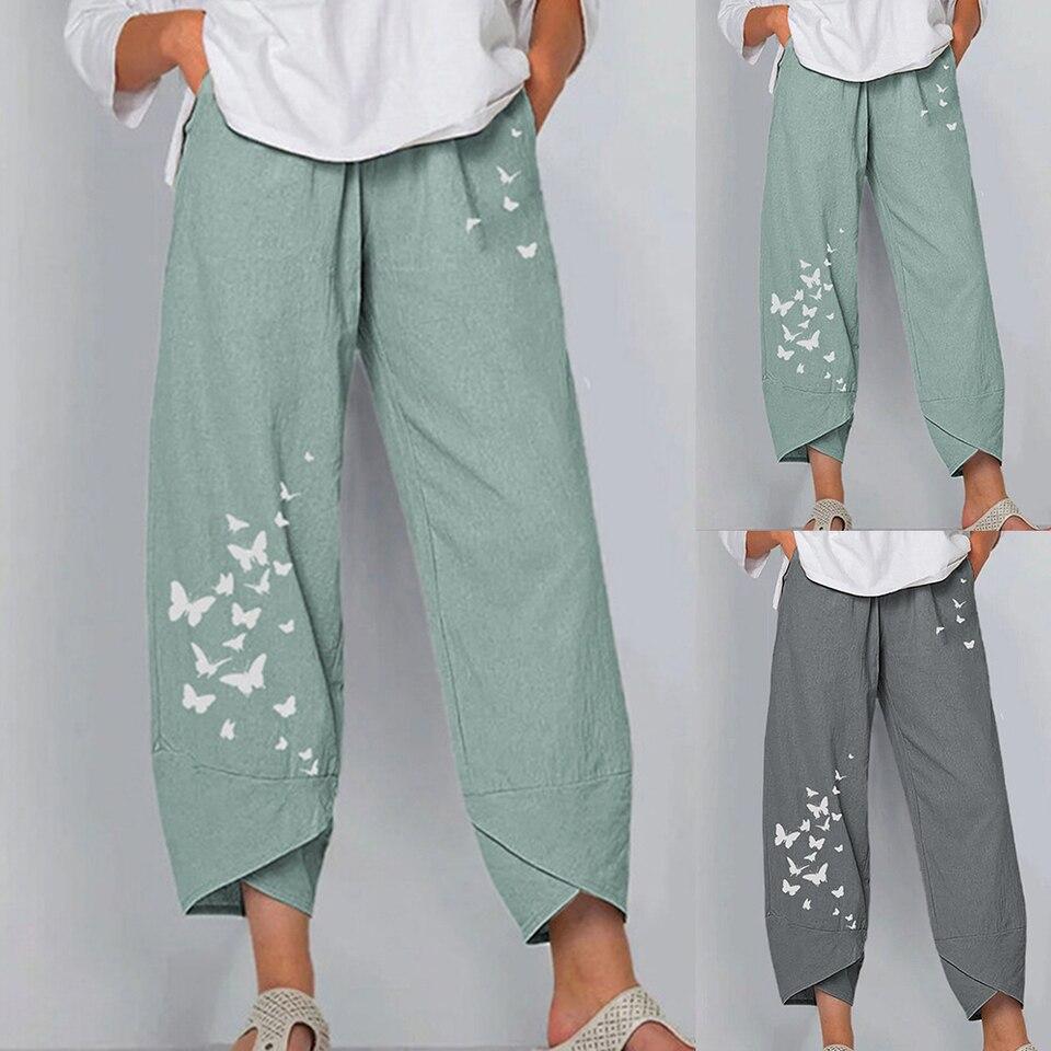 Abollria Pantalones De Algodon Y Lino Para Mujer Sueltos Pantalones De Pierna Ancha Verano Pantalon Anchos Pants Pantalones De Palazzo Con Cordon Mujer Pantalones